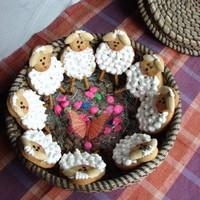 Пасхальное печенье Овечки