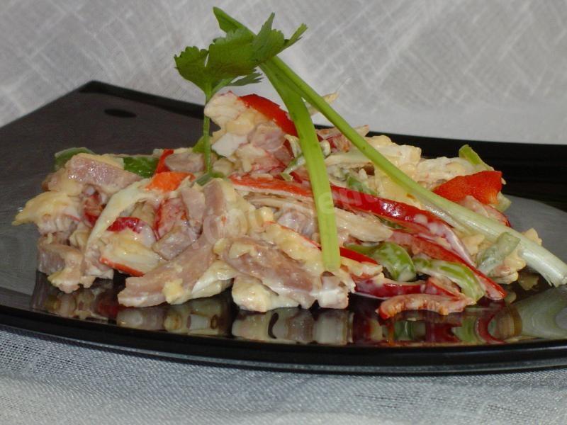 Салат бриз с креветками рецепт с