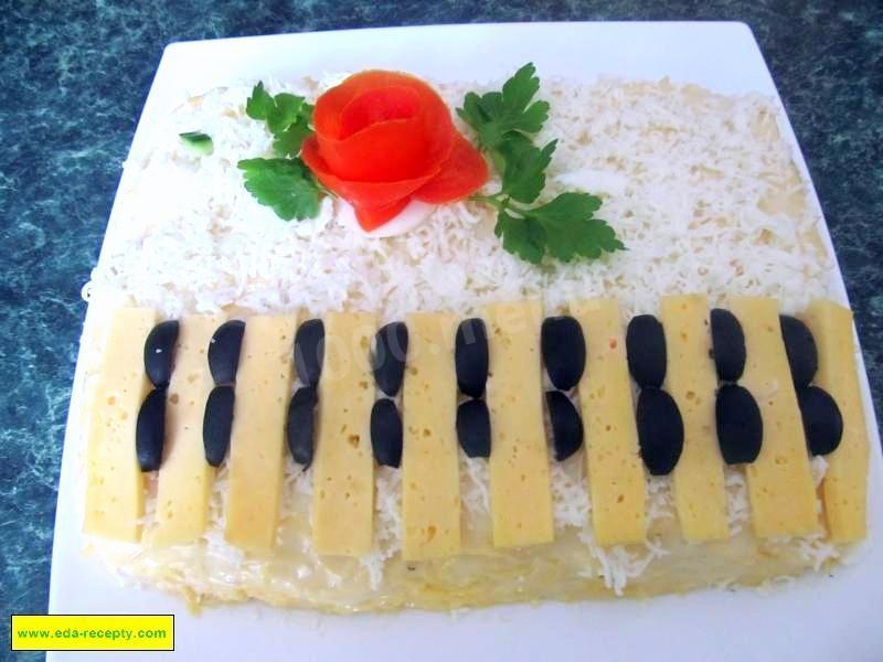 салат с куриной грудкой с ананасом рецепт с фото