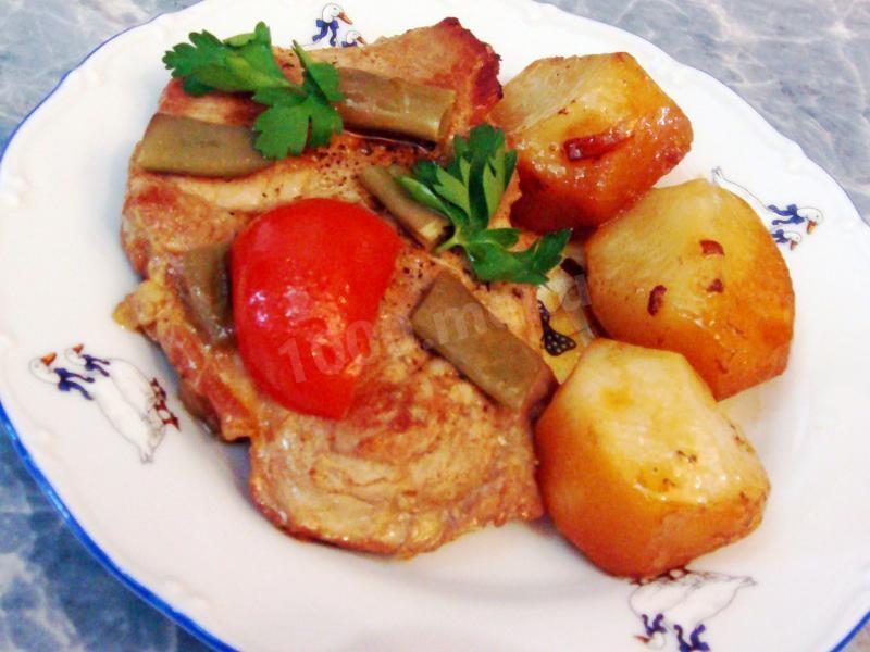 Жаркое свинины пошаговый рецепт фото