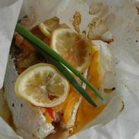 Стейк лосося запеченный