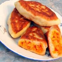 Постные жареные дрожжевые пирожки на сухих дрожжах за 15 минут