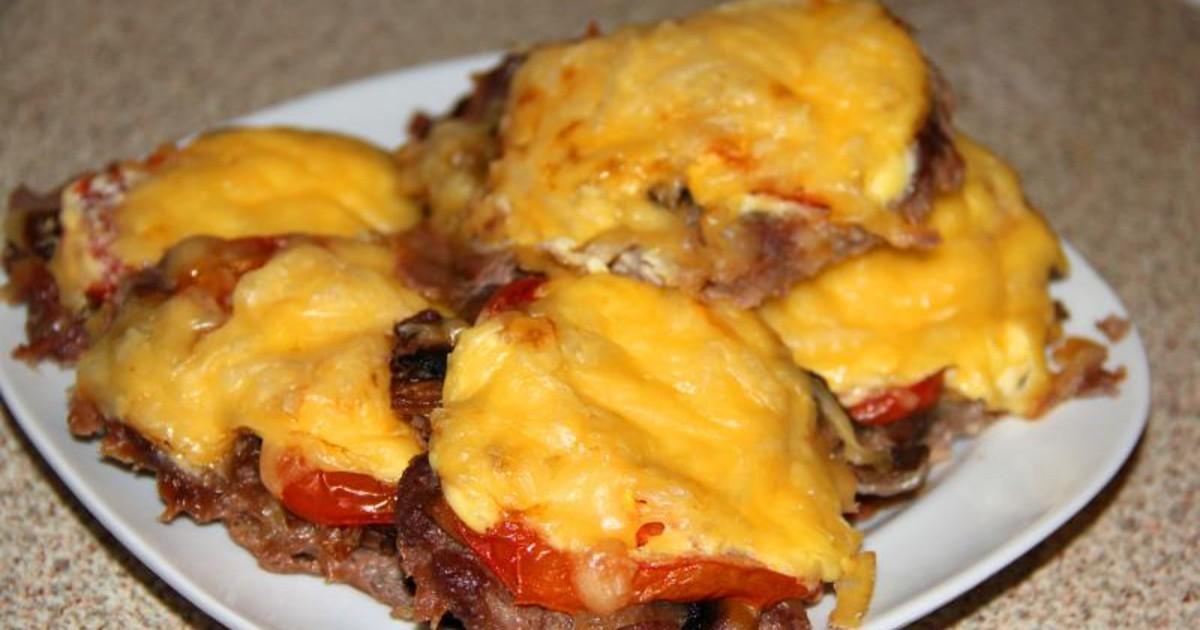 Мясо по-французски рецепт пошагово с грибами и помидорами