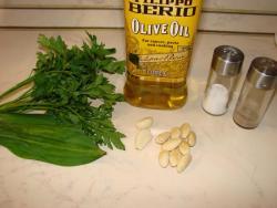 Соус из петрушки и черемши по мотивам соуса Песто