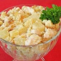 Салат с ананасом и куриным филе
