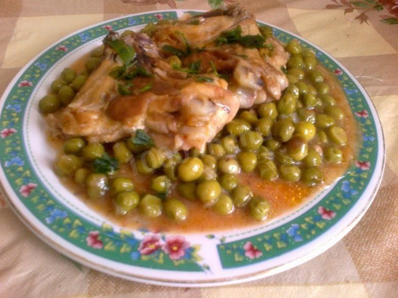 курица с зеленым горошком рецепт