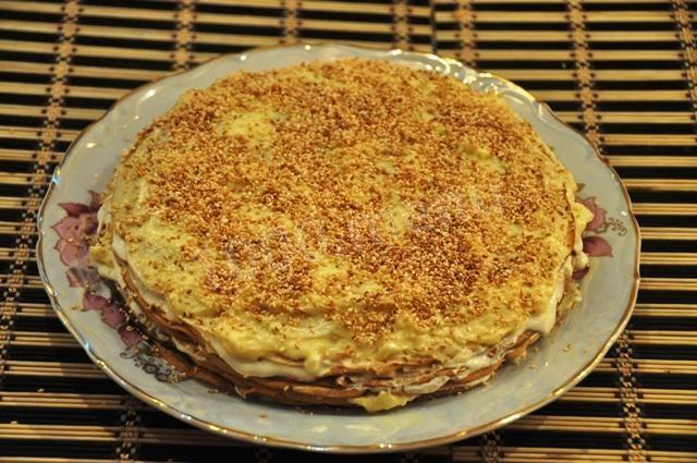 блинный торт на кефире рецепт
