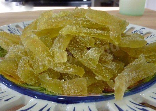 Как сделать цукаты из арбузных корок рецепт 708