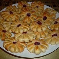Печенье из слоеного теста Ромашки