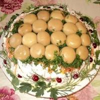 Салат с грибами Лесная поляна