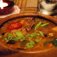 Суп из говядины и свинины «абхазский»