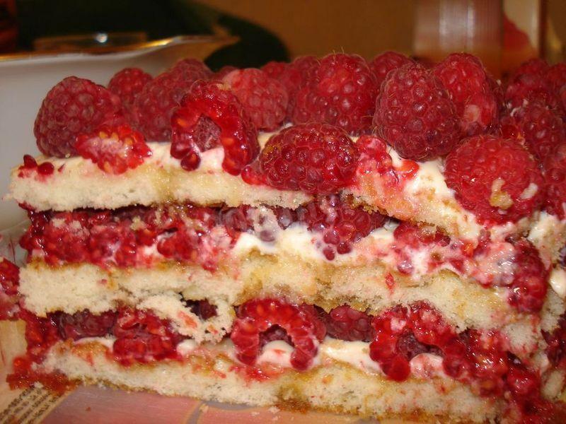 пирог с малиной рецепт простой рецепт