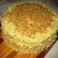 Вегетарианский торт Наполеон без яиц