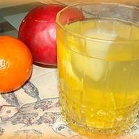 Мандариновый компот из мандарин и яблок на зиму