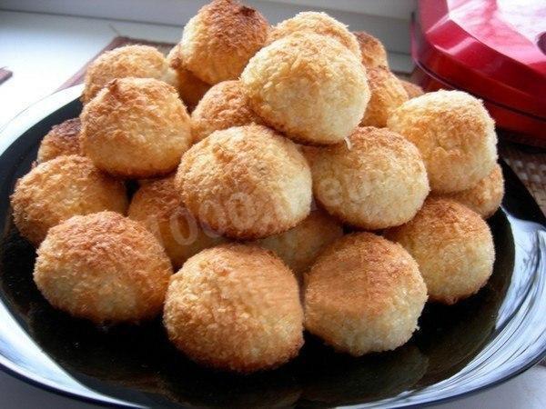 Домашнее печенье с кокосовой стружкой рецепты с фото