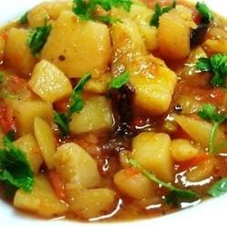 Рецепт: Мясо по-французски с картофелем и помидорами на ...