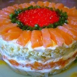 Салат с рыбой рецепт с фото пошагово