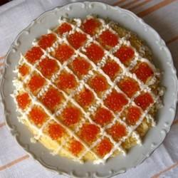 рецепты салатов с фото царский с икрой