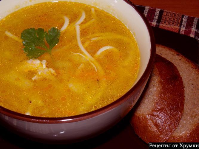 Суп куриный с картошкой и лапшой пошагово с фото