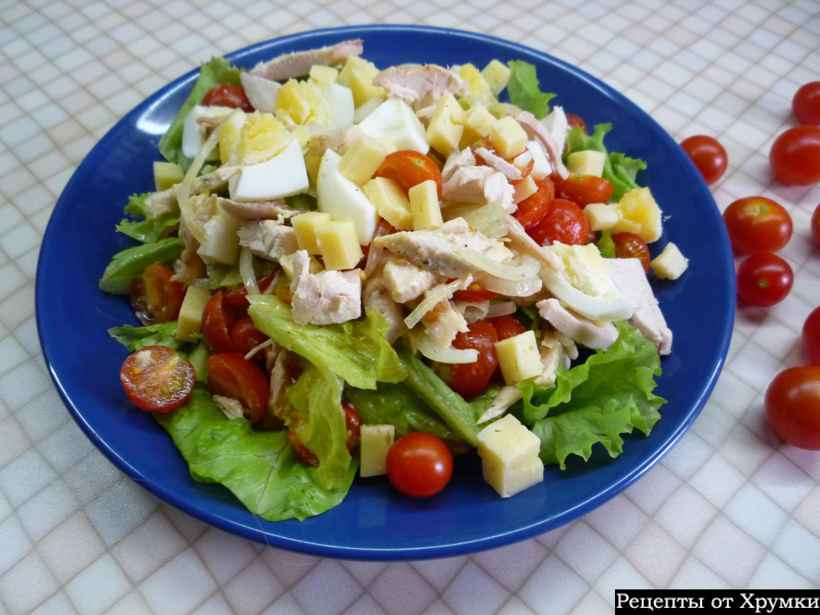 как приготовить салат цезарь с курицей и перепелиными яйцами
