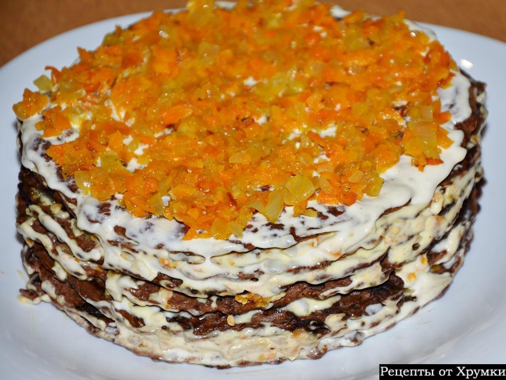 Печеночный тортик рецепт с фото пошагово