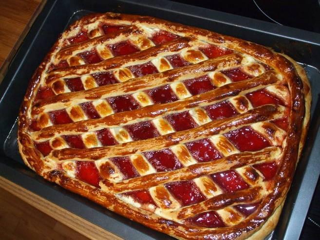 торт с вареньеи рецепт