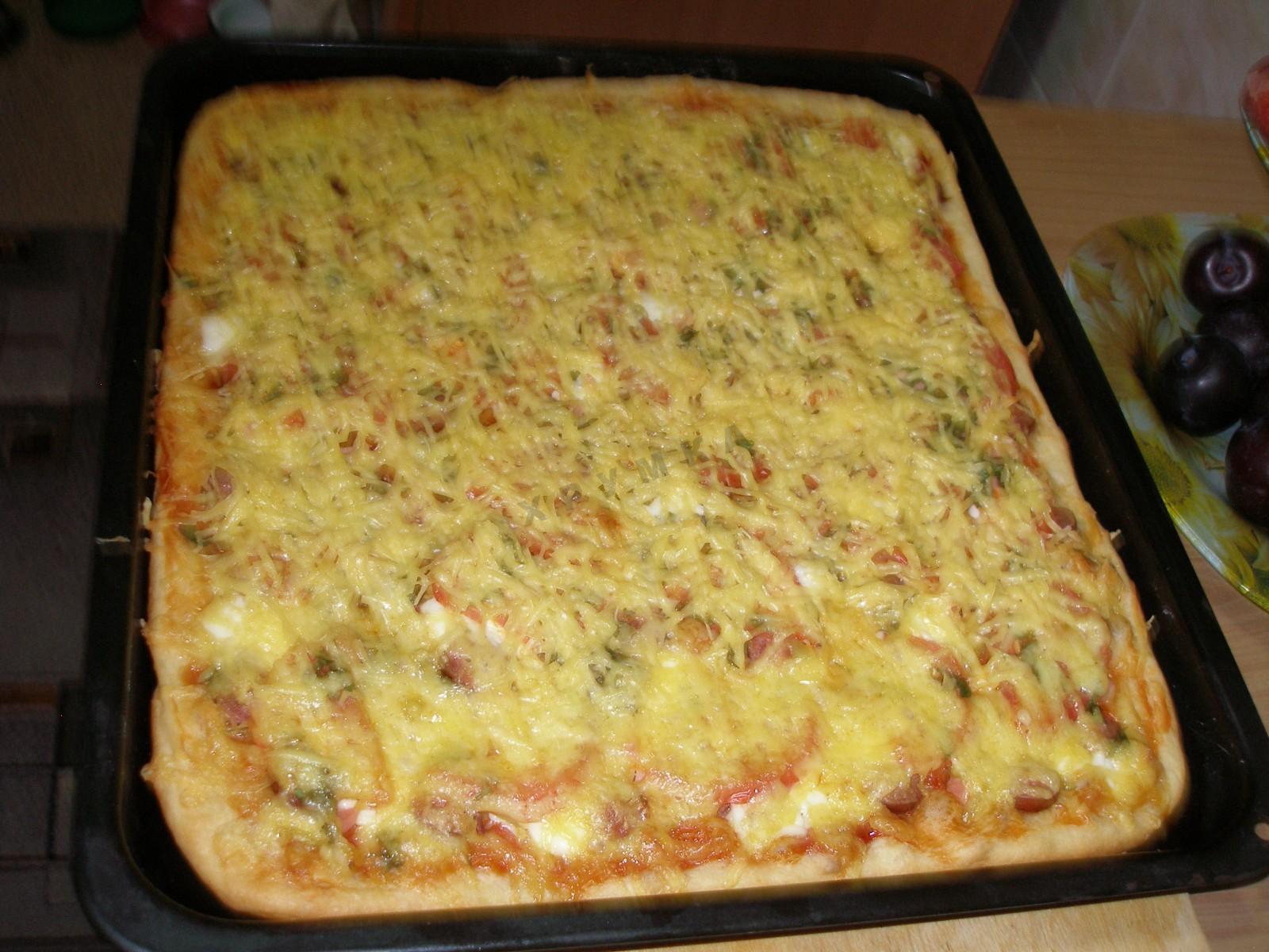 Пицца на кефире рецепт с пошаговым фото